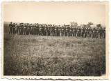 D398 Fotografie elevi militari liceul militar Cernauti 1938 aeroport