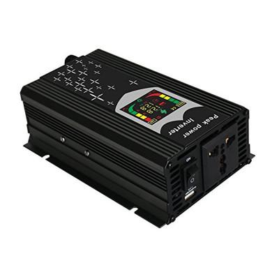 Invertor de tensiune cu display 12V-220V, putere 500 W, USB foto