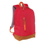 Rucsac rosu, Everestus, RU17FN, poliester 600D, saculet de calatorie si eticheta bagaj incluse
