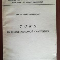Curs de chimie analitica cantitativa- Maria Mitranescu