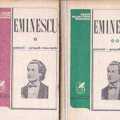 EMINESCU - POEZII - PROZA LITERARA ( 2 VOL )