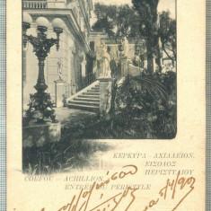 AD 668 C. P. VECHE-CORFOU- ACHILLION -GRECIA-CIRC1903-IRENE PETRIDES, BRAILA