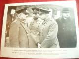 Fotografie ww2 tiparita -Delegatie Militara Turca in Germania  ,dim.18x24 cm