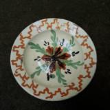 3. Farfurie veche din ceramica pentru agatat pe perete blid vechi lut 23 cm