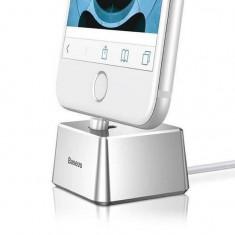 Incarcator Birou iPhone Lightning 2A Baseus Quadrate Argintiu Argintiu