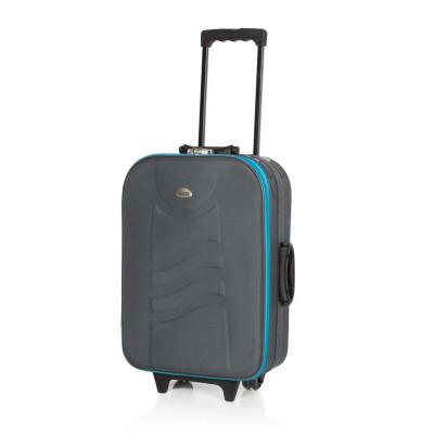Troler Deco Master, 55 cm, gri/albastru foto