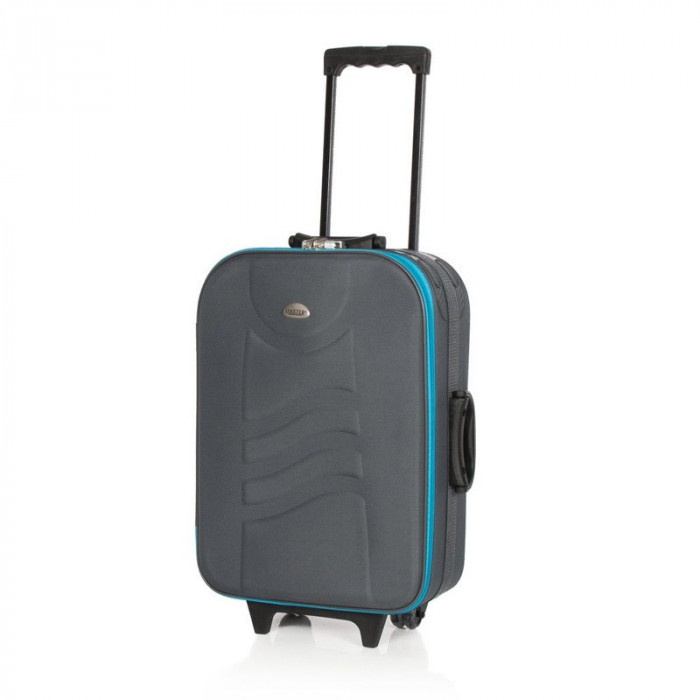 Troler Deco Master, 55 cm, gri/albastru