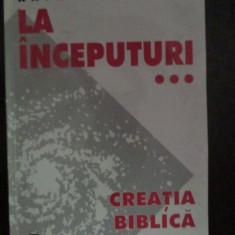 La inceputuri CREATIA BIBLICA SI STIINTA