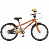 Bicicleta Copii VELORS V2001A, Roti 20inch, Frana C-Brake, cadru 230mm, cosulet (Portocaliu/Negru)