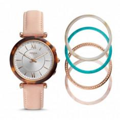 Smartwatch hibrid de damă Fossil Carlie FTW5042SET