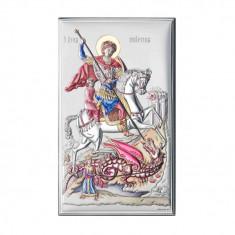 Icoana Argint Sfantul Gheorghe 12X20cm Color Cod Produs 2754