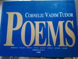 Poems, de Corneliu Vadim Tudor, editie rara cu autograful autorului