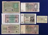 Bancnote Germania - Lot bancnote Germania - starea care se vede