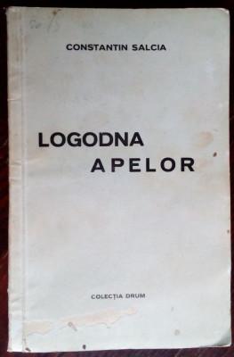 CONSTANTIN SALCIA-LOGODNA APELOR/COL.DRUM1939/GRAVURI CICERONE POPESCU/DEDICATIE foto