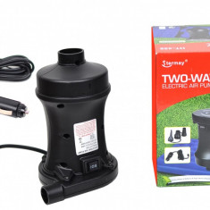 Pompa electrica umflat si dezumflat saltele, piscine, colace, 12V / 220V - HT458