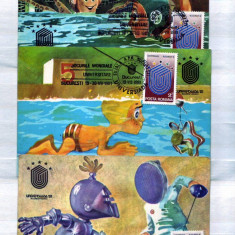 1981- Universiada Carti maxime 21 Lei lot 3