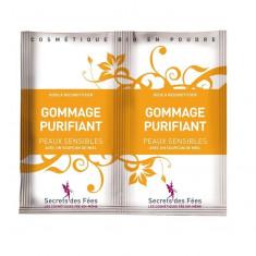 Exfoliant facial purifiant, cu miere si banana pt. ten sensibil, Secrets des...