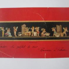 Carte postala Farmacisti Pompei-Casa dei Vettii,circulata 1905, Italia, Printata