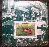 Cumpara ieftin Tanzania 1996, flora, plante, fluturi, insecte  colita Nestampilata