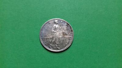 Moneda argint 1 leu 1914 foto