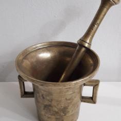 mojar vechi din bronz masiv dimensiuni mari peste 5 kg