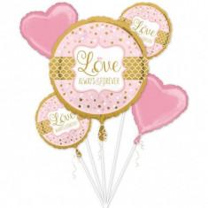 Buchet de baloane nunta din folie Sparkling Wedding