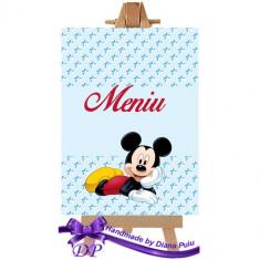 Meniu botez Mickey Mouse Handmade by Diana Puiu MEBM 1