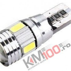 Led auto Canbus T10 cu 6 SMD 5730