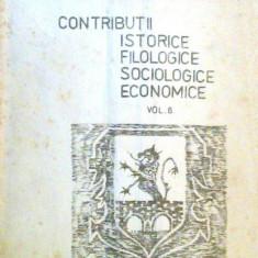 Contributii istorice filologice sociologice economice
