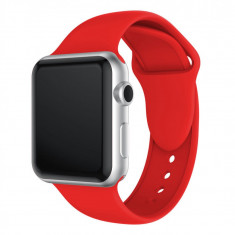 Curea compatibila Apple Watch 1/2/3/4, silicon, 42/44mm, rosu