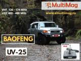 Cumpara ieftin Statie radio mobila emisie receptie 15W reglabila Baofeng UV-25; 136 -174 Mhz , 400- 480 Mhz
