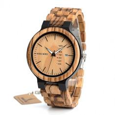 Ceas din lemn Bobo Bird cu curea din lemn, O26 Wooden Lux