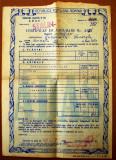 P.017 RPR POLITA ADAS CERTIFICAT DE ASIGURARE RAMURA AGRICOLE ORASUL STALIN 1955, Romania de la 1950