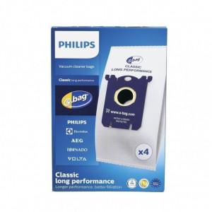 Pachet 4 Saci s-bag aspirator Philips Classic Long Performance