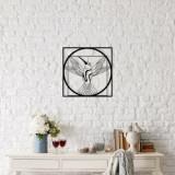 Cumpara ieftin Decoratiune pentru perete, Ocean, metal 100 procente, 50 x 50 cm, 874OCN1018, Negru