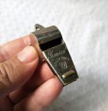 Fluier vechi Pionier Aradeanca cu marcaj, fluier romanesc de colectie
