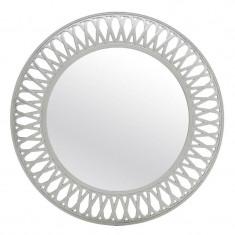 Oglinda de perete Adore, melamina, alb/argintiu, dimensiuni 75 x 5 cm