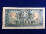 Bancnote România - 3 lei 1966 - seria B0006 214033 (starea care se vede)