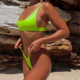 Costum de baie Mini reglabil Bandou Sexy Sutien Bikini Tanga Lady Lust Brazilian
