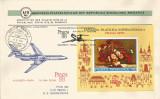 România, cartare specială de corespondenţă Praga 88, plic, Bucureşti, 1988