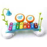 Xilofon pentru bebe cu tobite si clopotel - Hola Toys