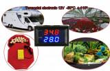 Termostat electronic clocitoare rulota auto 12V