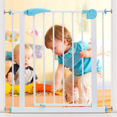 Poarta de siguranta pentru copii, latime montare 75-85 cm, inaltime 76 cm, metal, pentru trepte foto