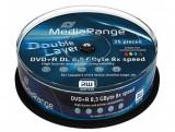 Mediu optic MediaRange DVD-R 8.5GB 8x 25