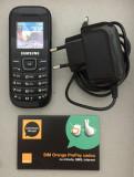Vand telefon mobil Samsung GT-E1200 negru + BONUS, Orange, NU