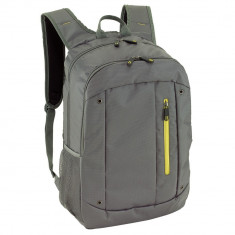 Rucsac gri, galben, Everestus, RU39TN, poliester, saculet de calatorie si eticheta bagaj incluse