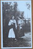 Carte postala interbelica ; Costume populare ,deosebita , circulata la Timisoara