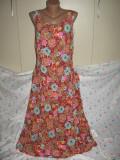 Rochie cu flori frumoase Mar 44 (cod 4602), Multicolor, Fara maneca