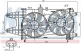 Ventilator radiator (cu carcasa) FIAT PUNTO 1.9D intre 1999-2012