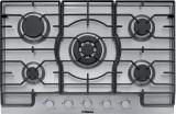 Cumpara ieftin Plita incorporabila Hansa BHGI83111035, 80 cm, Gaz, 5 arzatoare, comenzi frontale, WOK, siguranta, aprindere electrica, gratar fonta, inox